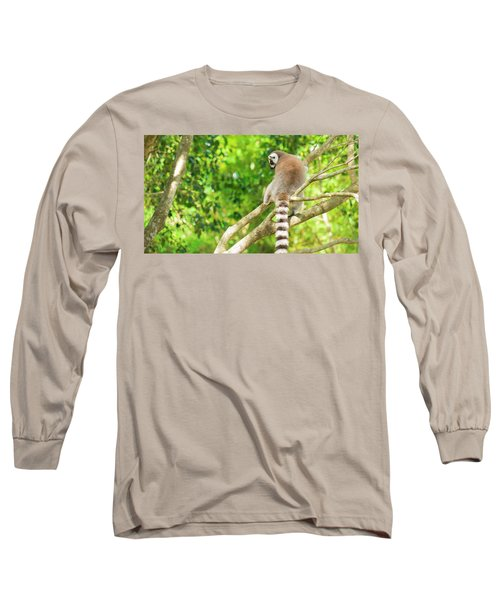 Lemur By Itself In A Tree During The Day. Long Sleeve T-Shirt