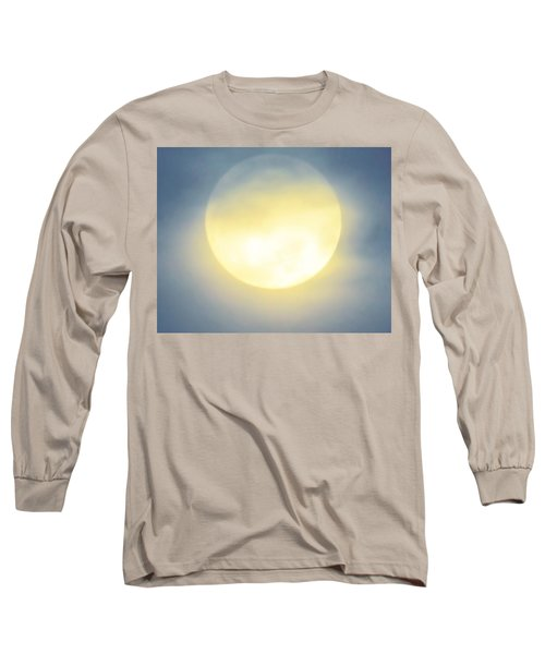 Long Sleeve T-Shirt featuring the photograph Leo Blue Super Moon by Judy Kennedy