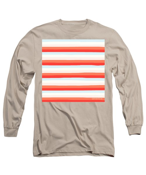 lumpy or bumpy lines abstract and colorful - QAB266 Long Sleeve T-Shirt