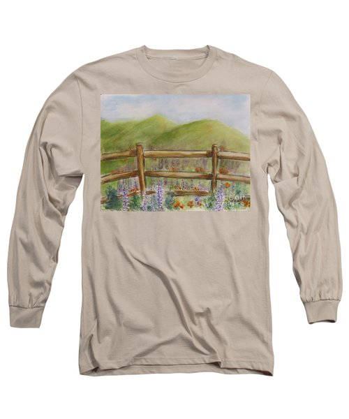 Lupines With A Side Of Poppies Long Sleeve T-Shirt