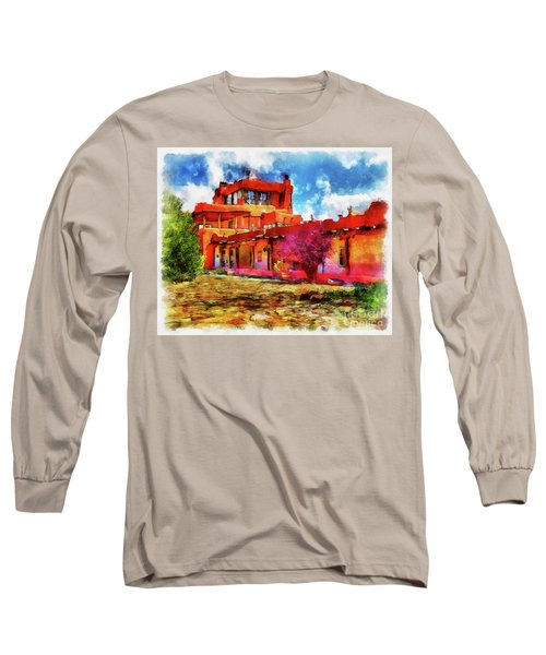 Mabel's Courtyard In Aquarelle Long Sleeve T-Shirt