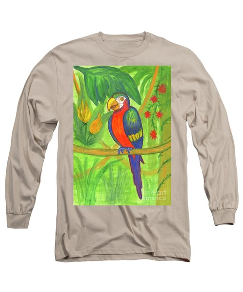 Macaw Parrot In The Wild Long Sleeve T-Shirt