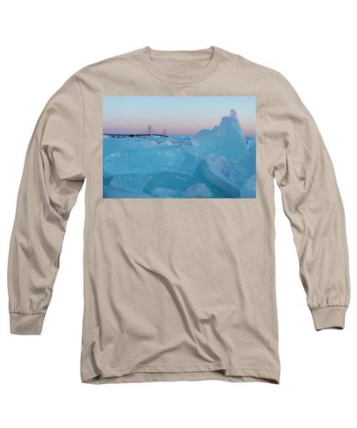 Mackinac Bridge In Ice 2161805 Long Sleeve T-Shirt