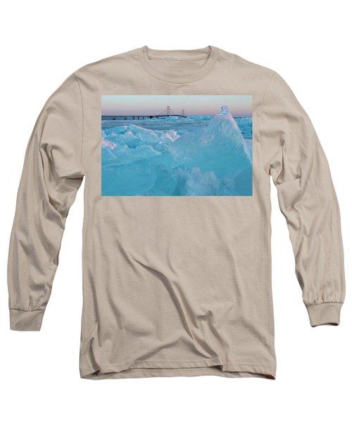Mackinac Bridge In Ice 2161806 Long Sleeve T-Shirt