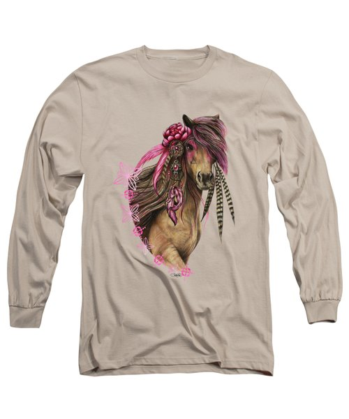 Magenta Warrior  Long Sleeve T-Shirt