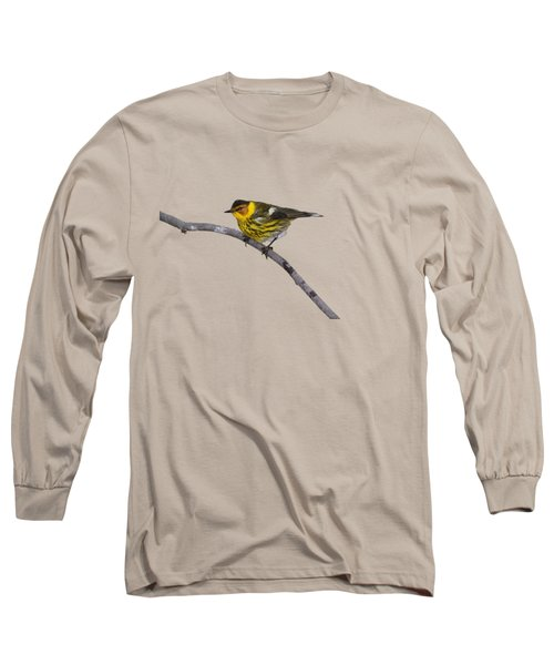 Male Cape May Warbler Long Sleeve T-Shirt
