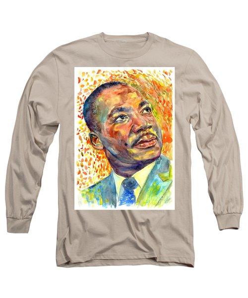 Martin Luther King Jr Portrait Long Sleeve T-Shirt