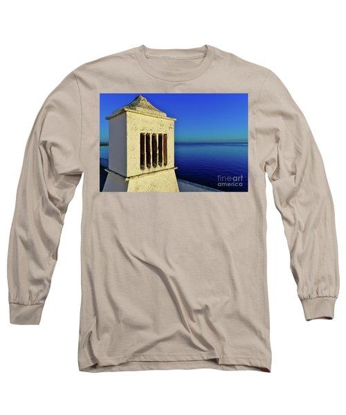 Mediterranean Chimney In Algarve Long Sleeve T-Shirt