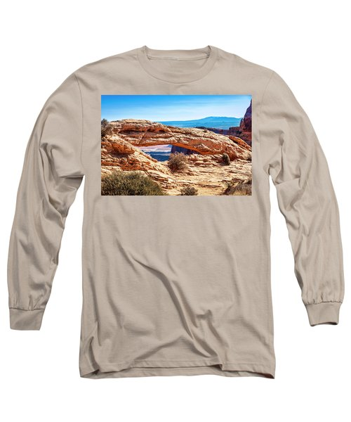 Long Sleeve T-Shirt featuring the photograph Mesa Arch by Andy Crawford