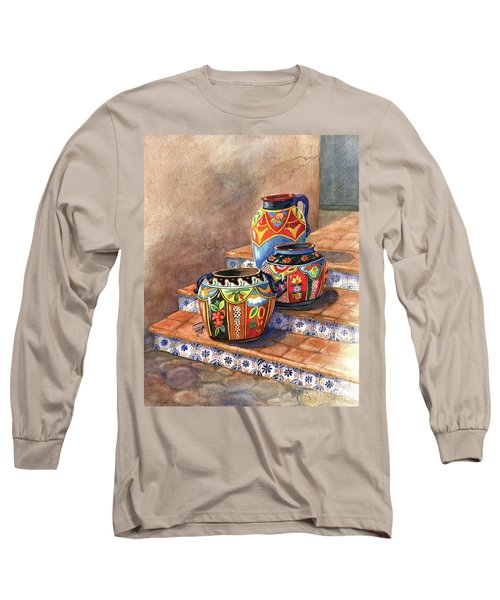 Mexican Pottery Still Life Long Sleeve T-Shirt