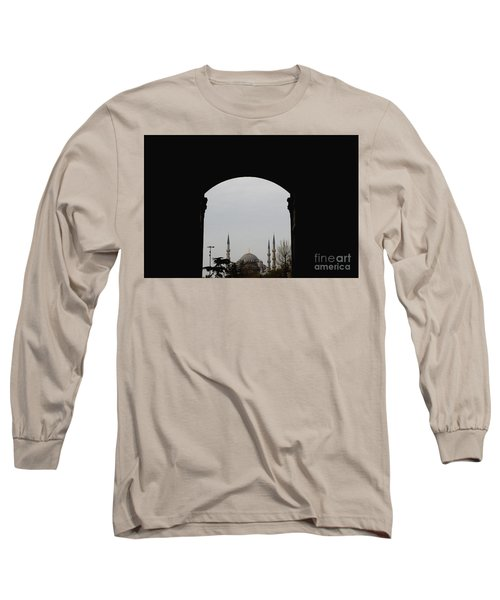 minarets in the city for the prayer of the Muslim religion Long Sleeve T-Shirt