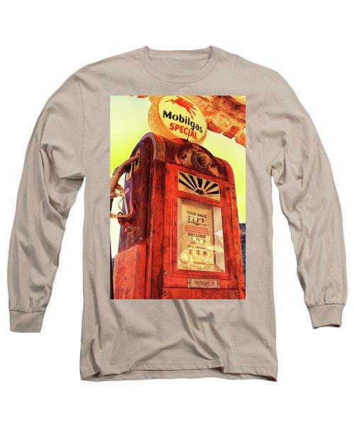 Mobilgas Special - Vintage Wayne Pump Long Sleeve T-Shirt