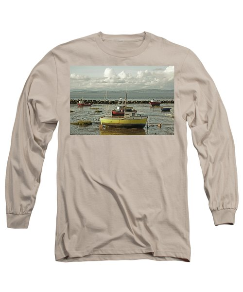 Morecambe. Boats On The Shore. Long Sleeve T-Shirt
