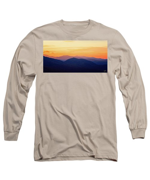 Mountain Light And Silhouette  Long Sleeve T-Shirt