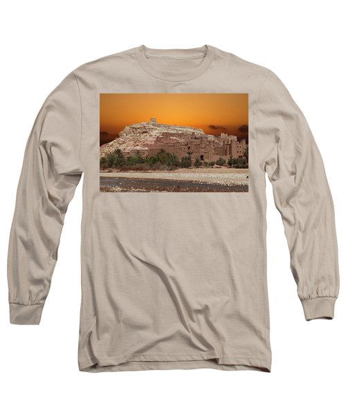 Mud Brick Buildings Of The Ait Ben Haddou Long Sleeve T-Shirt