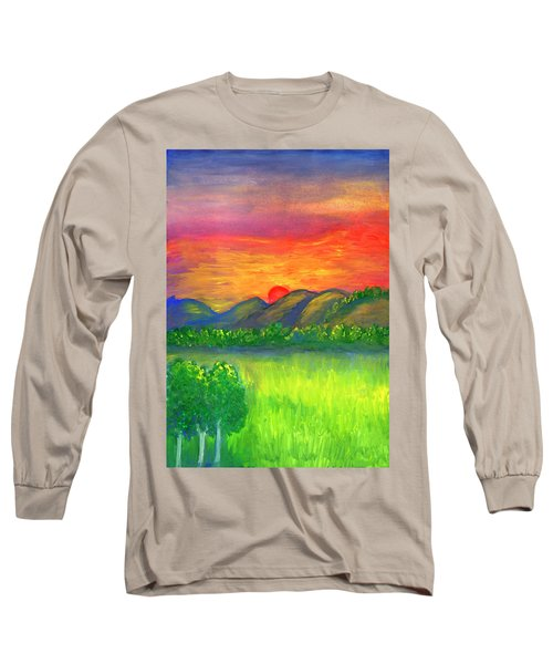 Mystical Red Sunset Long Sleeve T-Shirt