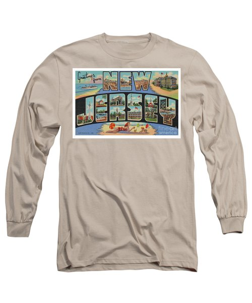 New Jersey Greetings - Version 1 Long Sleeve T-Shirt