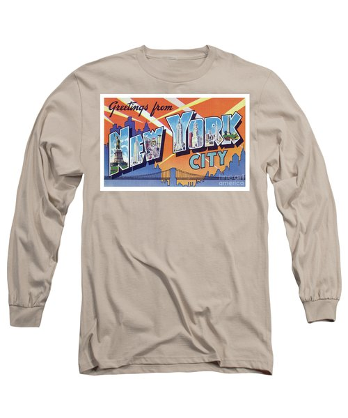 New York City Greetings - Version 2 Long Sleeve T-Shirt