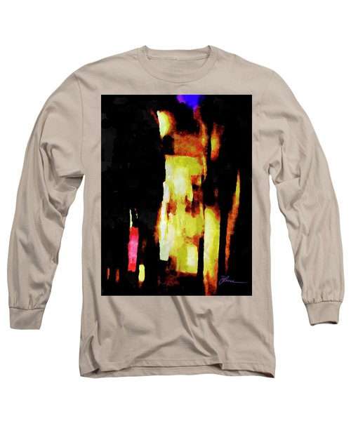 Long Sleeve T-Shirt featuring the painting Ny Verve 2 by Joan Reese