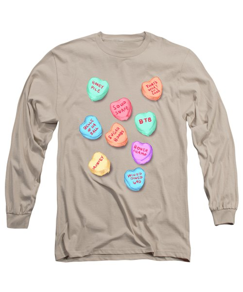 Office Convo Hearts Long Sleeve T-Shirt