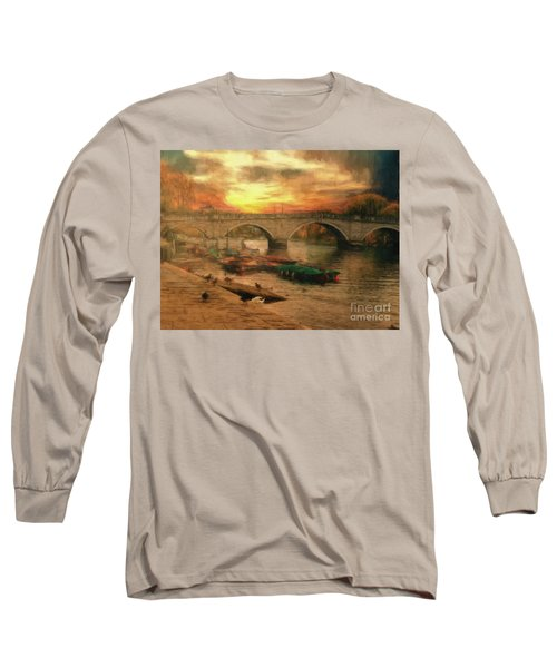 Long Sleeve T-Shirt featuring the photograph Once More To The Bridge Dear Friends by Leigh Kemp