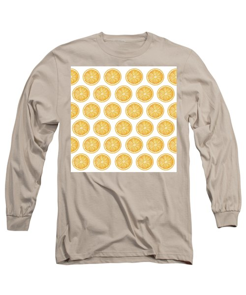 Orange Slice Pattern 1 - Tropical Pattern - Tropical Print - Lemon - Orange - Fruit - Tangerine Long Sleeve T-Shirt