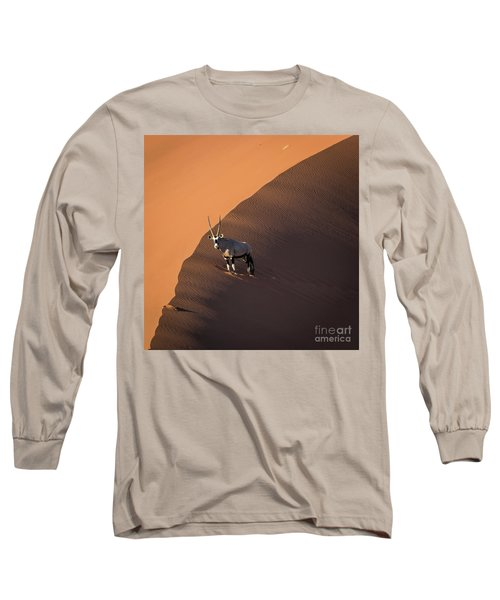 Oryx On The Edge, Namibia Long Sleeve T-Shirt