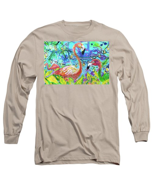 Outdoor Flamingo Party Long Sleeve T-Shirt