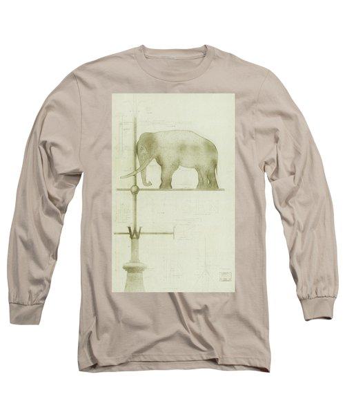 Pachyderm House, Philadelphia Zoo, Detail Of Weather Vane Long Sleeve T-Shirt