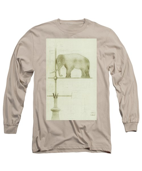 Pachyderm House, Philadelphia Zoo, Detail Of Weather Vane Long Sleeve T-Shirt
