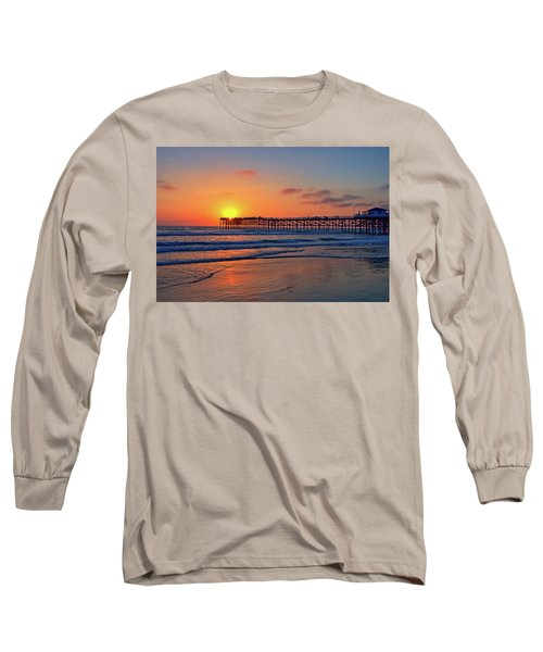 Pacific Beach Pier Sunset Long Sleeve T-Shirt