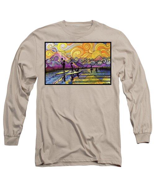 Paddleboarders Frisco Colorado Long Sleeve T-Shirt