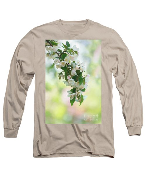Painted Crabapple Blossom Cascade Long Sleeve T-Shirt