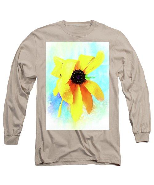 Flopsy - A Charming Wild Black-eyed Susan  Long Sleeve T-Shirt