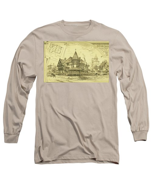Pair Of Twin Cottages, Hastings Square, Spring Lake, Nj Long Sleeve T-Shirt