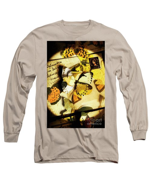 Paper Wings And Inked Out Notes Long Sleeve T-Shirt