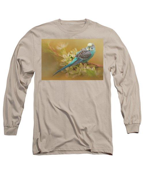 Parakeet Sitting On A Limb Long Sleeve T-Shirt