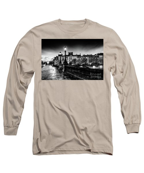 Paris At Night - Pont Neuf Long Sleeve T-Shirt