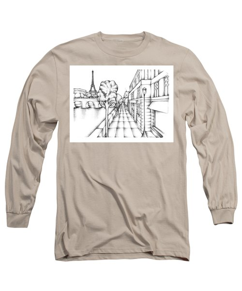 Paris On The Seine Long Sleeve T-Shirt