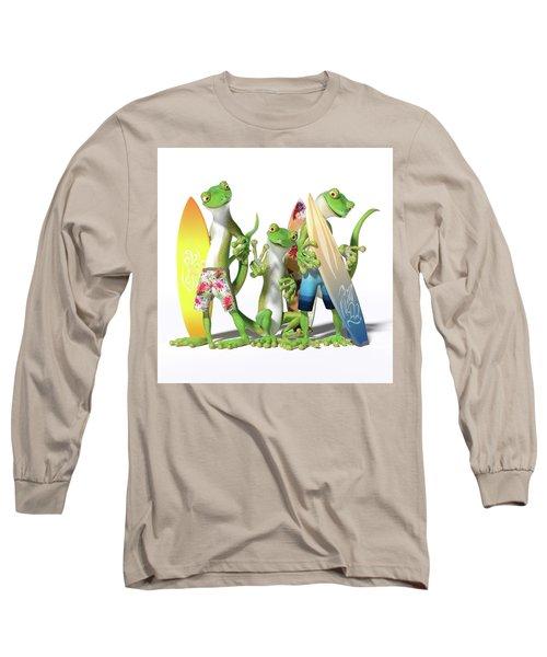 Peace Geckos  Long Sleeve T-Shirt