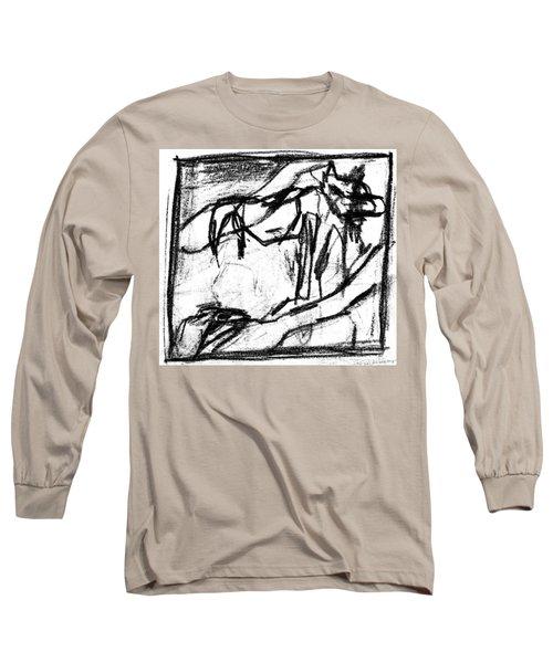 Pencil Squares Black Canine B Long Sleeve T-Shirt