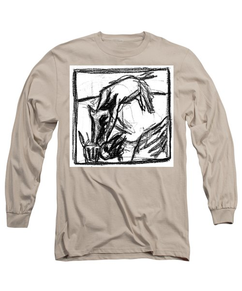 Pencil Squares Black Canine F Long Sleeve T-Shirt