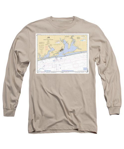 Pensacola Bay And Approaches Noaa Chart 11382 Long Sleeve T-Shirt