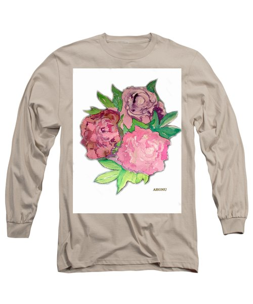 Peonie Roses Long Sleeve T-Shirt