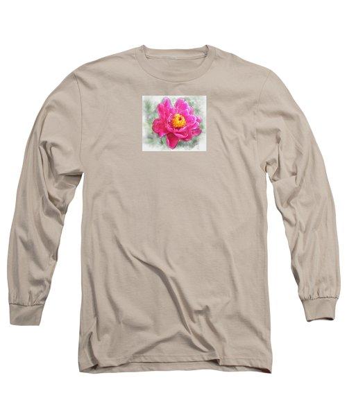 Peony And Bee Long Sleeve T-Shirt