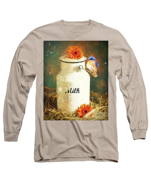 Perched On The Milk Can Long Sleeve T-Shirt
