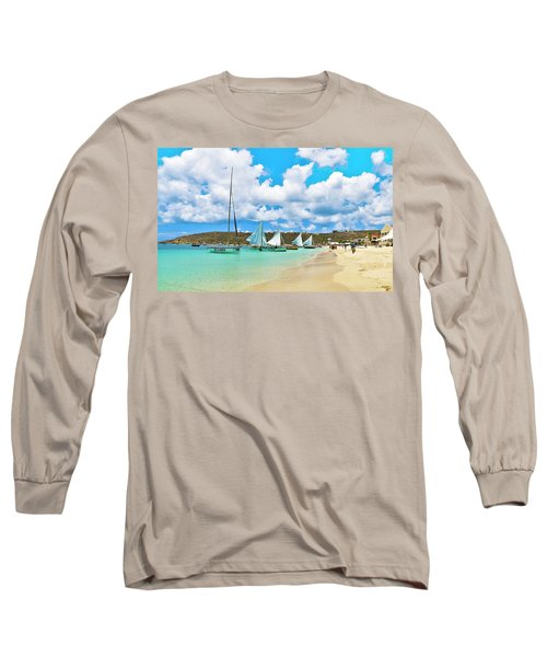 Picture Perfect Day For Sailing In Anguilla Long Sleeve T-Shirt
