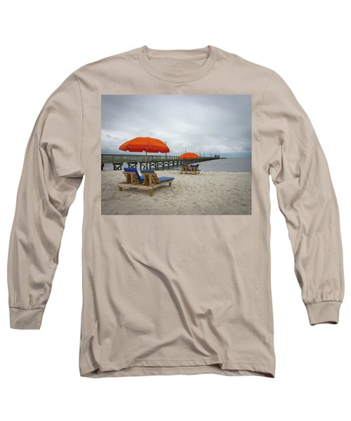 Long Sleeve T-Shirt featuring the photograph Pier by Jim Mathis