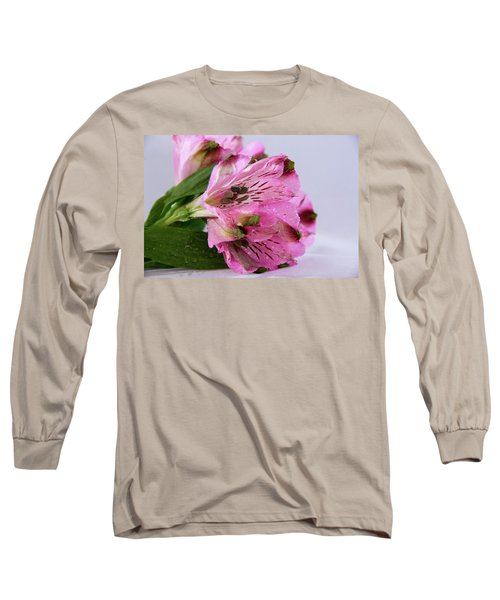 Pink Alstroemeria-4 Long Sleeve T-Shirt