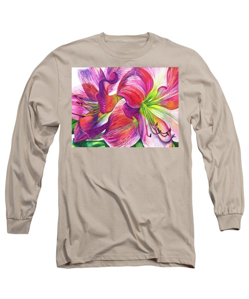 Pink Amarylis Long Sleeve T-Shirt